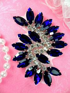 JB234 Marquise Crystal Rhinestone Applique Blue DIY Sewing Craft Supplies