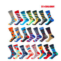 Men's Casual Combed Cotton Socks Tide Brand Long Wedding Stockings Business Sock