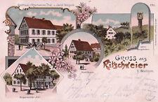 AK Litho 1908 Gruß aus Ritschweier b. Weinheim