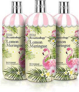 3 x Baylis & Harding Beauticology LEMON MERINGUE Flamingo BATH FOAM 500ml