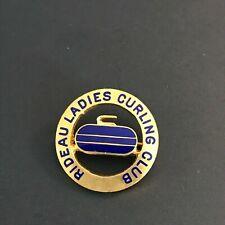 New listing VINTAGE CURLING PIN RIDEAU LADIES CURLING CLUB (Birks written on back)