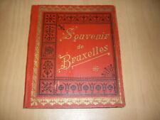Leporello 1895  Brüssel Jugendstil 29 fotos Bilder Ansichtskarte AK Dachboden
