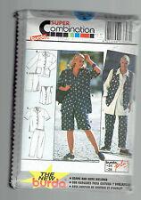BURDA pattern 3806 PLUS blouse vest pants shorts shirt Sz18 20 22 24 26 28 Uncut