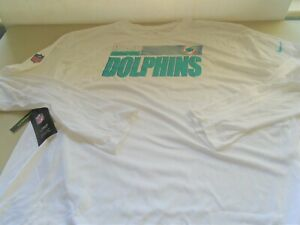 New Nike Miami Dolphins Long Sleeve White Dri Fit T Shirt sz 4XL