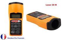 Télémètre Ultrasons Pointeur visée laser mètre mesure Jusqu'à 20 M