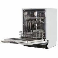 Bush DWINT125SS Full Size Integrated 60cm Dishwasher - Silver. A++