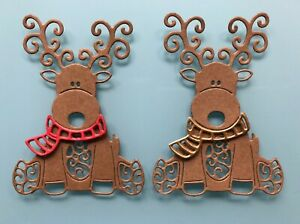 Tattered Lace Baby Reindeer Die Cuts x 8 - Christmas, Card Making, Toppers