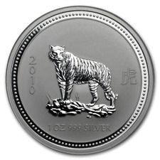 2010 Australia Lunar Year of the Tiger 1 oz. Silver Coin Series I w/capsule