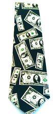 New Fifty Hundred Dollar Bills Money Banker Men's Necktie Neck Tie Umo Lorenzo