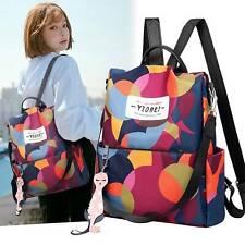 Women Anti-theft Travel Waterproof Backpack Rucksack Shoulder Oxford Cloth Bags