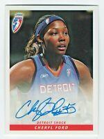 2006 WNBA Authentic Original Autograph Cheryl Ford Detroit Shock Action