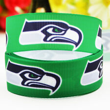 50yards 22mm Seattle seahawks Sport team ball printed Grosgrain Ribbon party