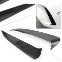 Carbon Fiber Style Rear Canard/Air Vent Spoiler Cover Trim For Benz Cclass W205