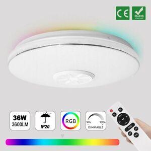 Deckenleuchte RGB LED Deckenlampe Musik mit bluetooth Lautsprecher Fernbedienung