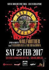"Guns N' Roses ""Not In This Lifetime Tour"" 2017 Singapore Concert Poster-Axl Rose"
