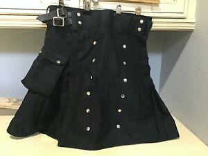 utility kilt, Black 34-37 waist