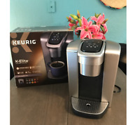 Keurig - K-Elite Single Serve K-Cup Pod Coffee Maker - Brushed Silver