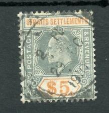 Malaya Straits Settlements 1904-10 $5 SG138 used cat £200