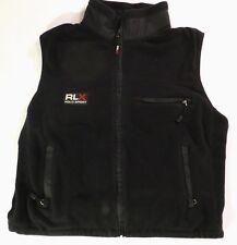 Polo Ralph Lauren RLX Sport Fleece Womens Vest Black Large Vintage Made in USA