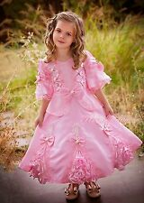 Pink Vintage Victorian Dress Party Fancy Costume Child Girl Age 2y-3y VD002