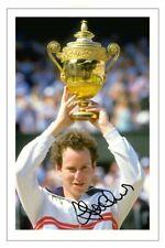 JOHN McENROE Signed Autograph PHOTO Fan Gift Signature Print Wimbledon TENNIS