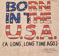 Vintage Shoebox Greetings Tshirt Born In The USA mens XL single stitch Hallmark