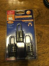 squire CLL20TR combination padlocks pack of three