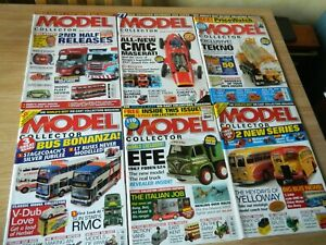 6x Model Collector Magazine issues July-Dec 2005 Herbie CMC tekno EFE toys Bus