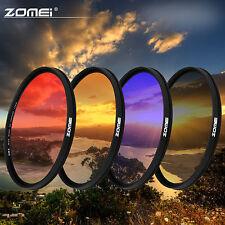 Zomei 58mm Ultra slim Graduated Grey Blue Orange Red Filter kit for Canon Nikon
