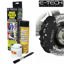 MATT BLACK E-Tech Brake Caliper Paint Kit Also For Drums Car ETECH Engine Bay