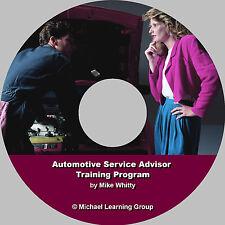 Auto SalesTraining - Auto Service Advisor Training Program eBook on CD