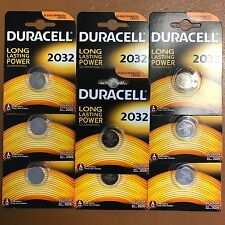 10 x Duracell CR2032 3V Lithium Coin Cell Battery 2032 DL2032 BR2032 Expiry 2026