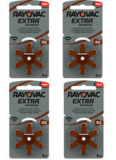 24x Rayovac Extra Advanced Typ 312 PR41 Hörgerätebatterien Hörgerät Batterien