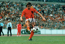 Johan CRUYFF Signed Autograph 12x8 Photo AFTAL COA Holland World Cup Image L
