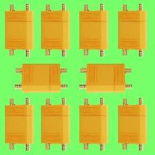 20pcs (10 Paires) XT90 Courant haute tension Prise De Akku En Nylon d'or Lipo