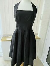 *Eva Tralala* Paris gorgeous black silk halter neck Romeo dress (10)