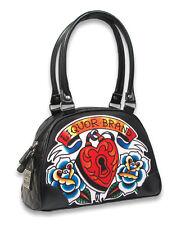 Liquor Brand Heart Locker Key Lock Tattoo Bowling Bag Handbag Purse B-BW-033