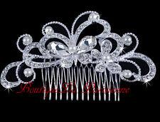 Brauthochzeits Haarkamm Kristall  Hochzeit Schmetterling Steckkamm  Einsteckkamm