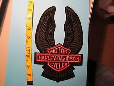 Vintage Harley-Davidson Motor Cycles Back Patch 8.5 inches tall