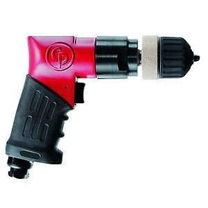 CHICAGO PNEUMATIC CP9792 3/8″ Keyless Reversible Heavy Duty Pistol Air Drill (20