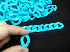 30 pcs Plastic Curb Chain Links Diy Bracelet Toys Kids Crafts Jewelry Making
