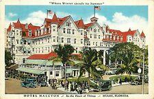 Florida, FL, Miami, Hotel Halcyon, Where Winter Spends its Summer Linen Postcard