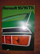 Prospekt Sales Brochure  автомобиль Renault 16/ 16 TS  Technische Daten   1970