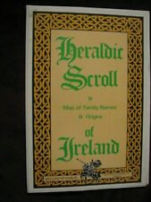 Heraldic Scroll Of Ireland Map of Family Names and Origins, Fold Out
