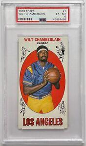 1969 Topps Basketball Set Break Wilt Chamberlain #1 PSA 6 EX-MT HOF Lakers