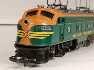 Triang R257 Transcontinental Green Orange Electric Pantograph Locomotive Runner