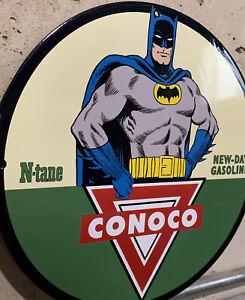 Vintage Style Conoco N Tane Gasoline Porcelain Gas Sign