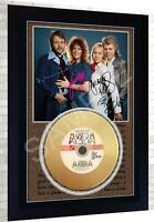 Abba Mini Gold Vinyl CD Record Signed Framed Photo Print Perfect Gift