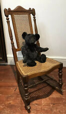 Aesthetic Movement Rare Cane Serpentine Front Spindle Back Rocking Chair