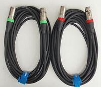 7,5m  Mikrofon Kabel XLR DMX Kabel OFC-Kupfer  2 Stück je 7,5m lang Kabelklett